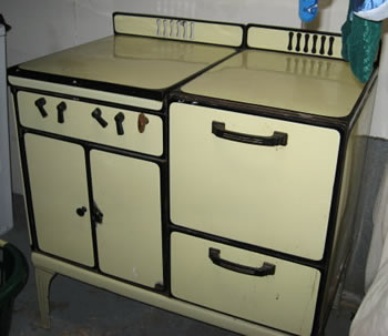 Yellow Enamel Waterman Stove